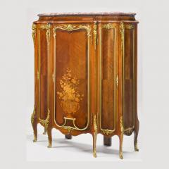 Roux et Brunet Ormolu mounted Mahogany Satin and Fruitwood Marquetry Cabinet - 1990633