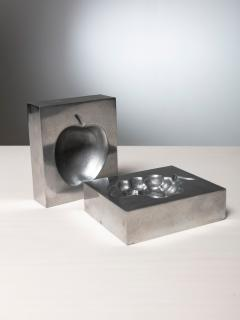 Roy Adzak Pair of Aluminum Ashtrays by Roy Adzak for Atelier A - 1186709