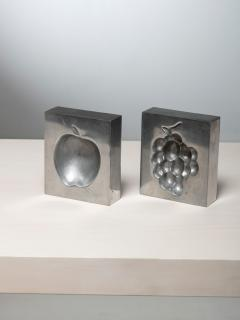 Roy Adzak Pair of Aluminum Ashtrays by Roy Adzak for Atelier A - 1186710