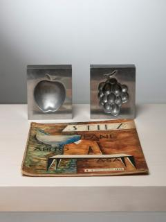 Roy Adzak Pair of Aluminum Ashtrays by Roy Adzak for Atelier A - 1186712