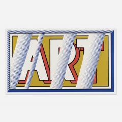 Roy Lichtenstein Roy Lichtenstein 1988 hand signed screenprint ART in colors - 2074267