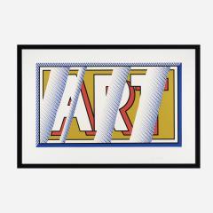 Roy Lichtenstein Roy Lichtenstein 1988 hand signed screenprint ART in colors - 2074268