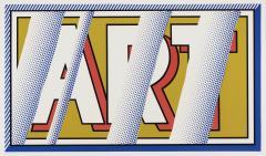 Roy Lichtenstein Roy Lichtenstein 1988 hand signed screenprint ART in colors - 2074376