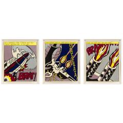Roy Lichtenstein Roy Lichtenstein Signed Triptych As I Opened Fire Prints Stedelijk Museum - 1554488
