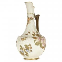 Royal Worcester Japanese style English porcelain ewer by Royal Worcester - 2073824