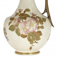 Royal Worcester Japanese style English porcelain ewer by Royal Worcester - 2073825
