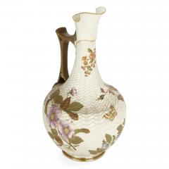 Royal Worcester Japanese style English porcelain ewer by Royal Worcester - 2073826