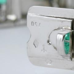Rubel Fr res Rubel Freres French Retro Diamond Emerald and White Gold Bracelet - 240087
