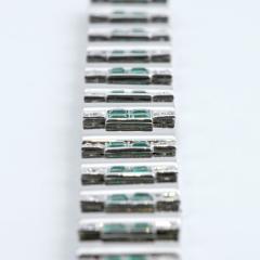 Rubel Fr res Rubel Freres French Retro Diamond Emerald and White Gold Bracelet - 240090