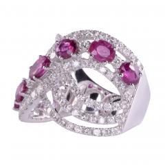 Ruby Diamond 18KW Wide Ring - 2139265