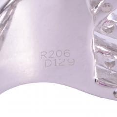 Ruby Diamond 18KW Wide Ring - 2139268