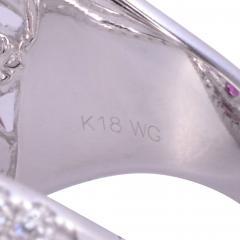 Ruby Diamond 18KW Wide Ring - 2139269
