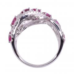 Ruby Diamond 18KW Wide Ring - 2139270