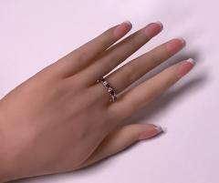 Ruby and Diamond Eternity Ring 14K - 1172525