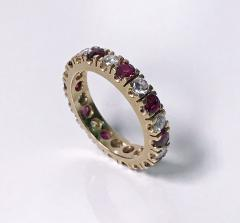 Ruby and Diamond Eternity Ring 14K - 1172526