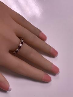 Ruby and Diamond Eternity Ring 14K - 1172527