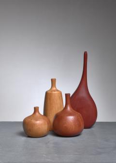 Rude Osolnik Set of four turned wood vases three by Rude Osolnik USA 1960s - 790566