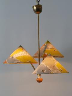 Rupert Nikoll Amazing 3 Armed Chandelier or Pendant Lamp Chinese Hut y Rupert Nikoll Austria - 2067019