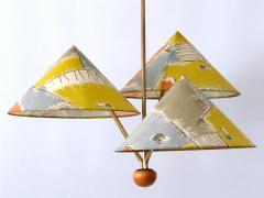 Rupert Nikoll Amazing 3 Armed Chandelier or Pendant Lamp Chinese Hut y Rupert Nikoll Austria - 2067021