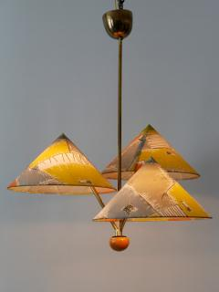 Rupert Nikoll Amazing 3 Armed Chandelier or Pendant Lamp Chinese Hut y Rupert Nikoll Austria - 2067024