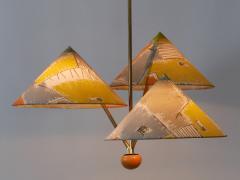 Rupert Nikoll Amazing 3 Armed Chandelier or Pendant Lamp Chinese Hut y Rupert Nikoll Austria - 2067025