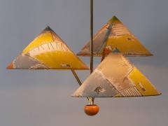 Rupert Nikoll Amazing 3 Armed Chandelier or Pendant Lamp Chinese Hut y Rupert Nikoll Austria - 2067027