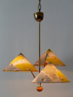 Rupert Nikoll Amazing 3 Armed Chandelier or Pendant Lamp Chinese Hut y Rupert Nikoll Austria - 2067028