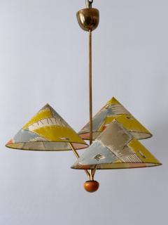Rupert Nikoll Amazing 3 Armed Chandelier or Pendant Lamp Chinese Hut y Rupert Nikoll Austria - 2067029