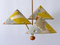 Rupert Nikoll Amazing 3 Armed Chandelier or Pendant Lamp Chinese Hut y Rupert Nikoll Austria - 2067030