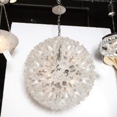 Rupert Nikoll Mid Century Modern Chrome Murano Glass Stylized Floral Sputnik Chandelier - 2004815