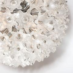 Rupert Nikoll Mid Century Modern Chrome Murano Glass Stylized Floral Sputnik Chandelier - 2004825