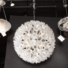 Rupert Nikoll Mid Century Modern Chrome Murano Glass Stylized Floral Sputnik Chandelier - 2004846