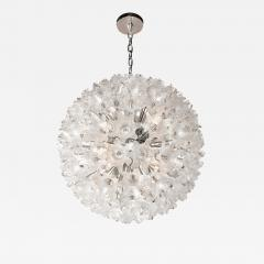 Rupert Nikoll Mid Century Modern Chrome Murano Glass Stylized Floral Sputnik Chandelier - 2010064