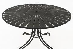 Russell Woodard American Mid Century 1960s Iron Outdoor Dining Table - 728064