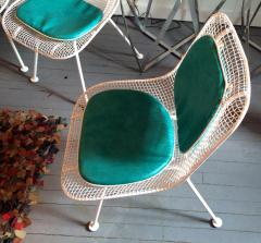 Russell Woodard Sculptura Metal Mesh Table And Six Side Chairs Russell  Woodard   78217