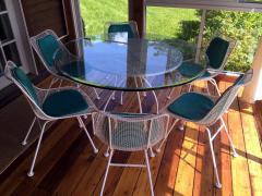 Russell Woodard Sculptura Metal Mesh Table and Six Side Chairs Russell Woodard - 78220