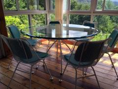 Russell Woodard Sculptura Metal Mesh Table and Six Side Chairs Russell Woodard - 78221