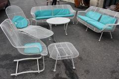 russell woodard six piece set of woodard sculptura patio furniture