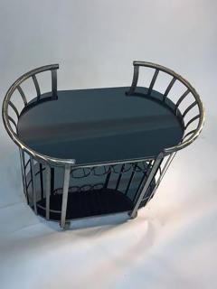 Russell Woodard Style of Russell Woodard Flat Band Steel Bar Cart - 415542