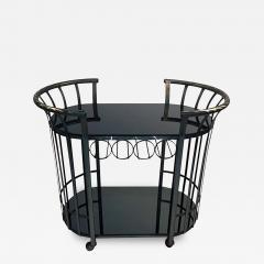 Russell Woodard Style of Russell Woodard Flat Band Steel Bar Cart - 416441