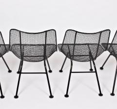 Russell Woodard Woodard Furniture Pair of Russell Woodard Black Sculptura Lanai Chairs 1950s - 1572037