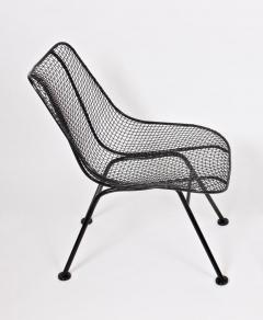 Russell Woodard Woodard Furniture Pair of Russell Woodard Black Sculptura Lanai Chairs 1950s - 1572081