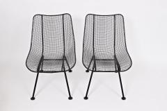 Russell Woodard Woodard Furniture Pair of Russell Woodard Black Sculptura Lanai Chairs 1950s - 1572085