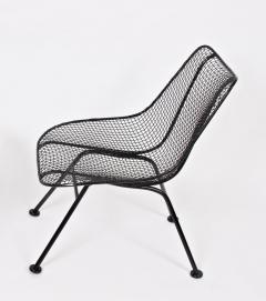 Russell Woodard Woodard Furniture Pair of Russell Woodard Black Sculptura Lanai Chairs 1950s - 1572096