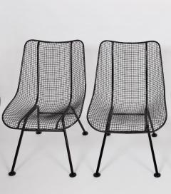 Russell Woodard Woodard Furniture Pair of Russell Woodard Black Sculptura Lanai Chairs 1950s - 1572098
