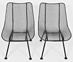 Russell Woodard Woodard Furniture Pair of Russell Woodard Black Sculptura Lanai Chairs 1950s - 1572104