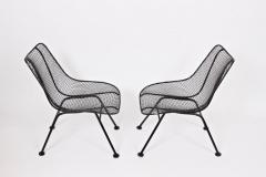 Russell Woodard Woodard Furniture Pair of Russell Woodard Black Sculptura Lanai Chairs 1950s - 1572120
