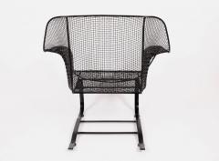 Russell Woodard Woodard Furniture Russell Woodard Black Sculptura Spring Lounge Armchair 1950s - 1593656