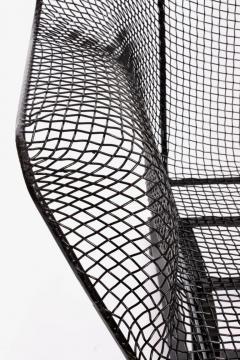 Russell Woodard Woodard Furniture Russell Woodard Black Sculptura Spring Lounge Armchair 1950s - 1593664