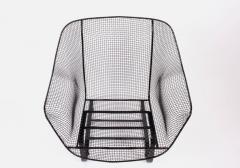 Russell Woodard Woodard Furniture Russell Woodard Black Sculptura Spring Lounge Armchair 1950s - 1593666